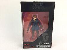 "Hasbro Star Wars Black Series 3.75"" Han Solo (Hoth) ESB TFA Action Figure New"