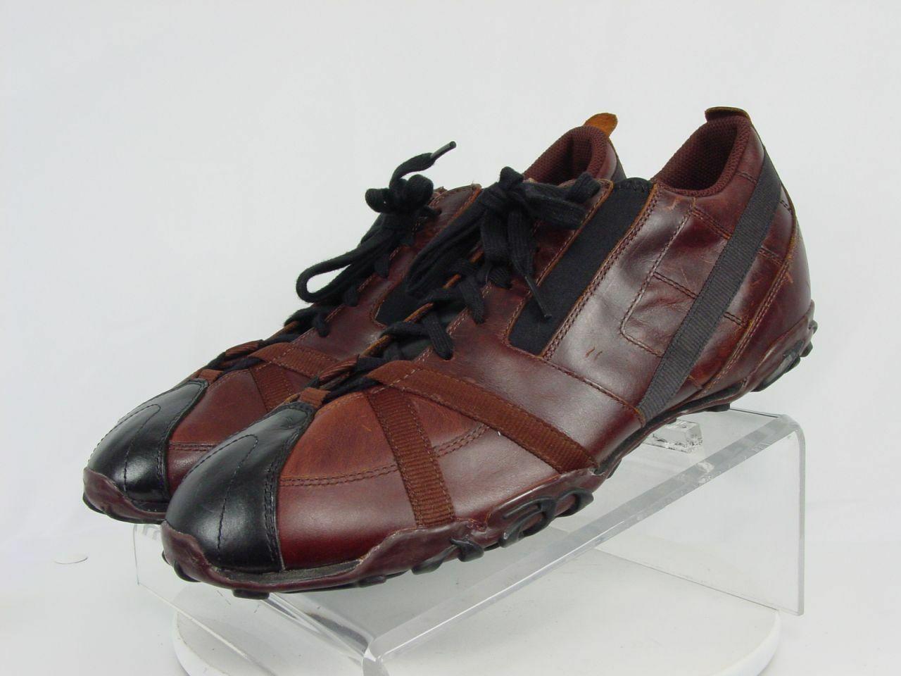NEW Vintage DIESEL RESPECT Men 12-M Brown Leather Casual Walking Sneaker shoes