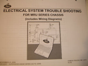 Mack Truck MRU Series Chis Electrical TROUBLESHOOTING Service ... on