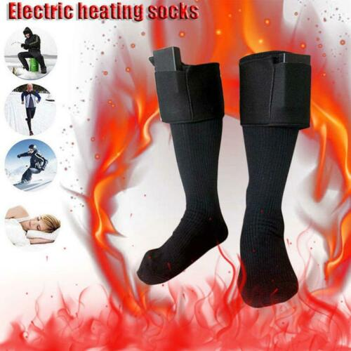 Electric Battery Heated Socks Feet Warmer Ice Fishing Foot Shoe Boot Warming