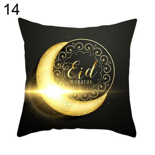 AM/_ WO/_ ISLAMIC EID MUBARAK THROW PILLOW CASE RAMADAN KAREEM CUSHION COVER DECOR