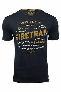 Firetrap-Hombre-Camiseta-de-manga-corta-039-Towson-039
