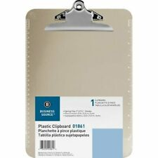 Business Source Clipboard Spring Clip 6x9 Smoke 12 Clipboards Bsn01861bx