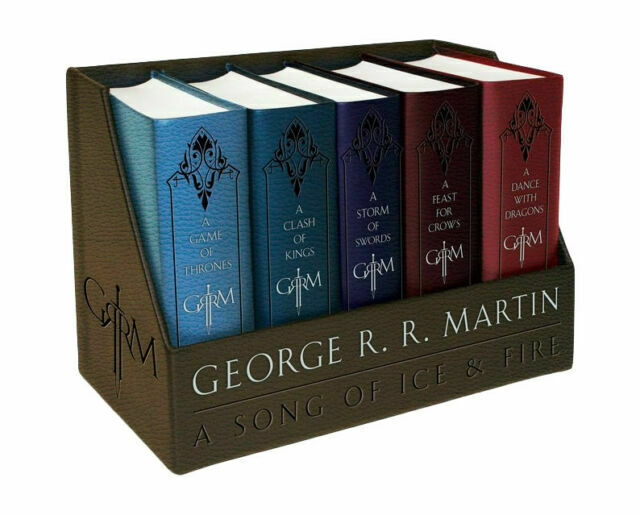 NEW Game of Thrones Leather-Cloth Boxed Set Song of Ice and Fire Series R MARTIN