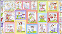 Loralie Designs You Golf Girl Golfing Fabric Panel Cotton Quilting Fabric