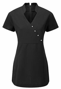 V-Neck-Beauty-Hairdressing-SPA-Nail-Salon-Therapist-Massage-Tunic-Uniform-V4B