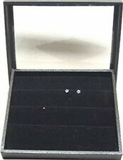 Clear Top Jewelry Display Case Box With Earring