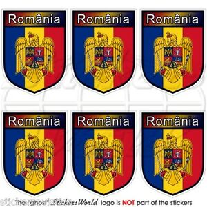 "ROMANIA Bucarest, Adesivi in Vinile per Celulare 40mm (1.6"") Mini Stickers x6"