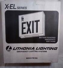 Nib Lithonia Lighting X El Series Steel Emergency Led Exit Red Letters 120277