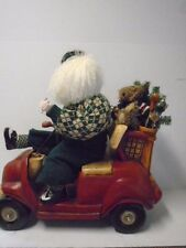 Santa Golfer Golf Cart Sandbagger Christmas Figurine Holly Tree Scorecard Bear