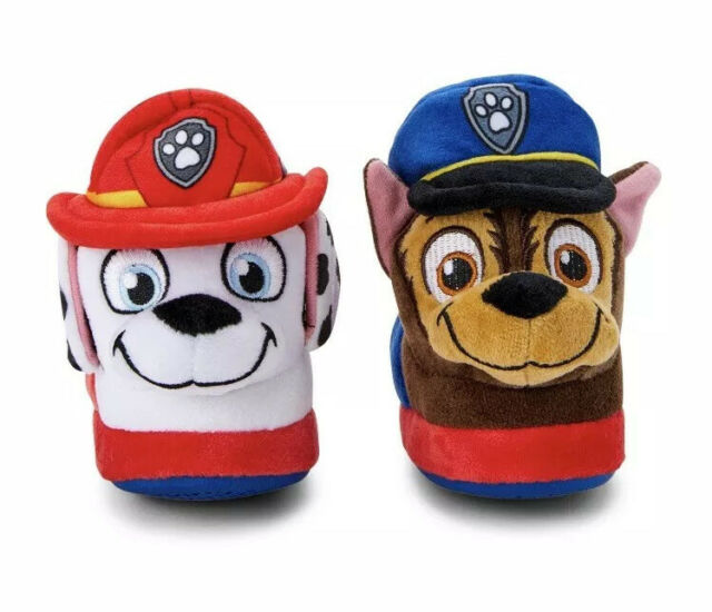 New Paw Patrol Toddler Boy Slippers House Shoes Marshall Chase Size XL 11//12