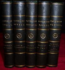 Scott Waverley Novels, Fine Bindings, 1834. 5 Volumes Fine Bindings