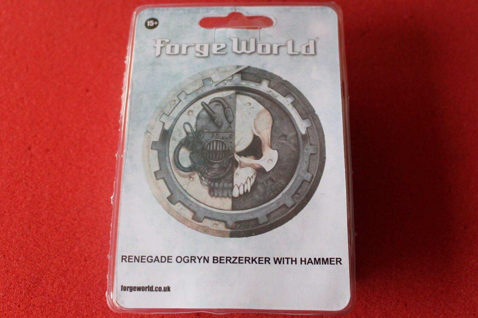 giocos  lavoronegozio WARHAMMER 40k FORGEWORLD RENEGADE Ogryn Berserker con Martello Nuovo  prendiamo i clienti come nostro dio