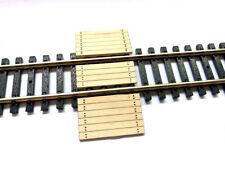 LASER CUT REAL WOOD RAILWAY BARROW CROSSING FOR N SCALE MODEL RAILWAY LX185-N