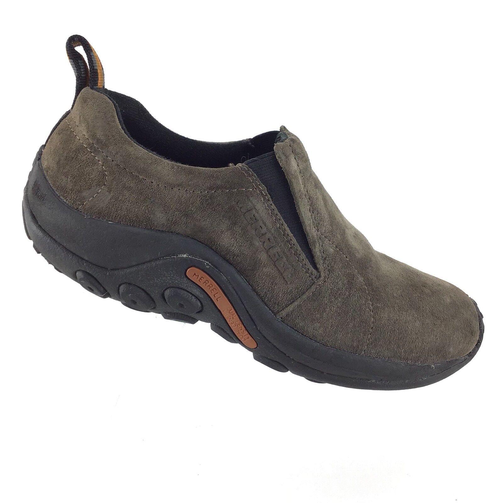 Merrell Gunsmoke Jungle Moc Suede Leather Slip On Comfort Womens 8 shoes R7S2