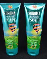 2 Bath & Body Works Sonoma Weekend Escape Ultra Sheer Body Cream Set Of 2