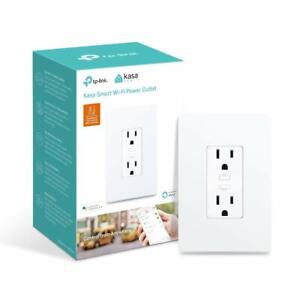 TP-Link-Kasa-Smart-2-Outlet-Wi-Fi-In-Wall-Plug-Alexa-Google-Home-KP200
