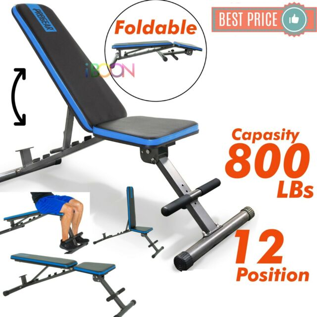 Merax Deluxe Flat Decline Incline Weight Bench Foldable Adjutable For Sale Online Ebay