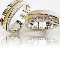 2 Trauringe 925 Silber GRAVUR + Etui Eheringe Verlobungsringe Partnerringe 3311