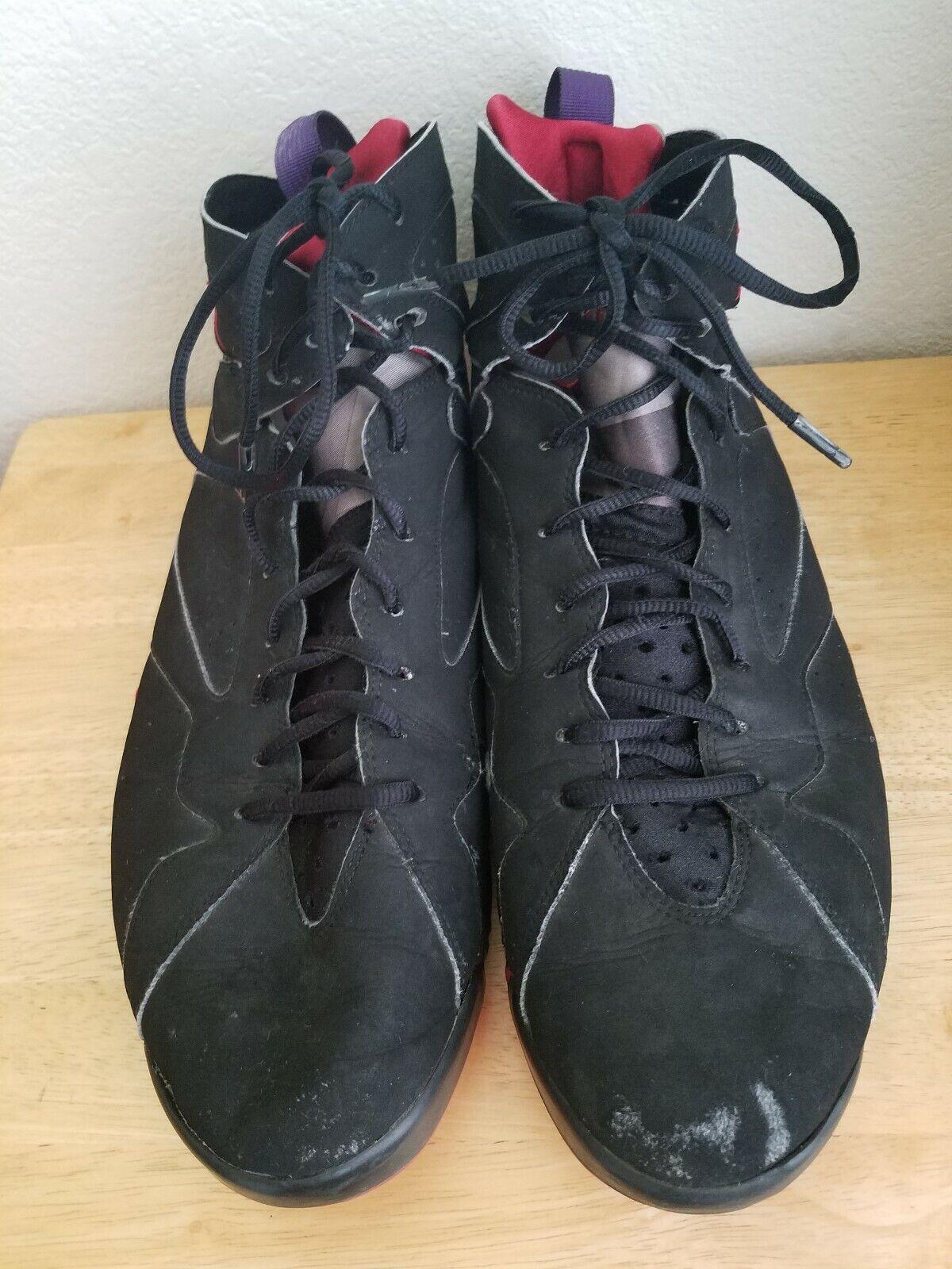 Nike Air Jordan 7 Retro Raptor 2012 304775-018 Black Red Men's Size 14