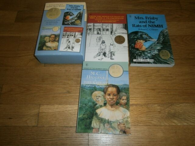 """A COLLECTION OF 3 NEWBERY MEDAL WINNERS: """"M.C HIGGINS,MRS. FRISBY**Excellent**"""