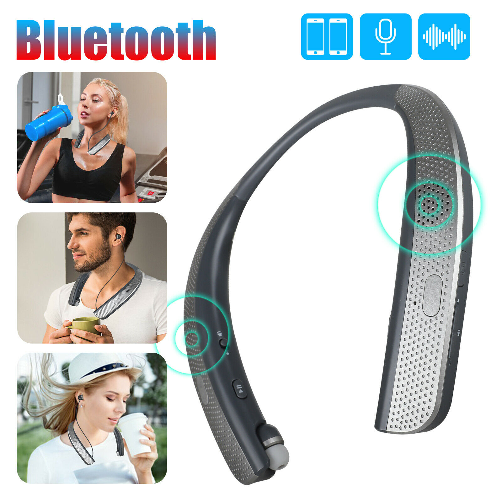 Best Wireless Headphones Bluetooth Earbuds For Iphone 7 With Mic Running Budmi For Sale Online Ebay