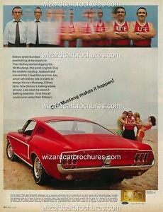 1968 Ford Mustang Sales Brochure