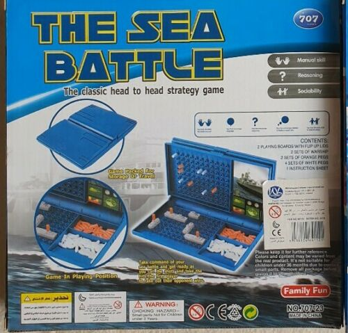 THE SEA BATTLE CLASSIC TRADITIONAL STRATEGY FAMILY BOARD GAME FOR ADULTS /& KIDS