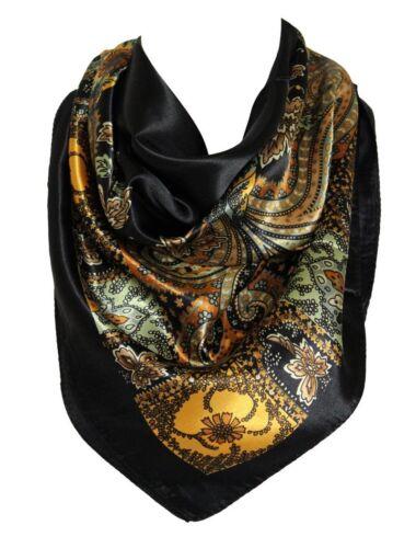 Blumen Muster Bandana-Schal Seide Satin Eckiger Ausschnitt Stirnband