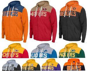 competitive price 559cf c000b Details about NFL NHL Double Team Full Zip Hoodie Football Hockey  Sweatshirt Jacket Hoodies UK