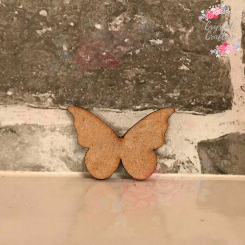 Wooden 3mm MDF Laser Cut Craft Shape Butterfly Embellishments Scrapbook Tags