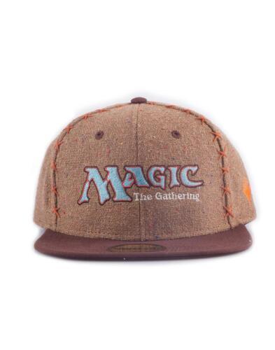 The Gathering Logo Core Snapback Baseball Cap Unisex Brown//Or Hasbro Magic NEW