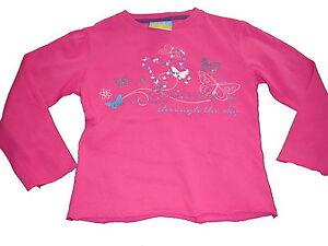 Topolino-tolles-Langarm-Shirt-Gr-110-rosa-mit-Schmetterlings-Motiv