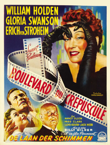 Gloria Swanson vintage movie poster print Sunset Blvd
