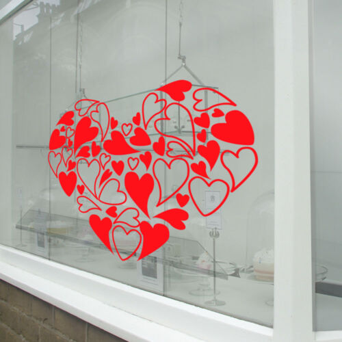 Valentines Day Heart NEW Window Stickers Decals Shop Window Display Love A332