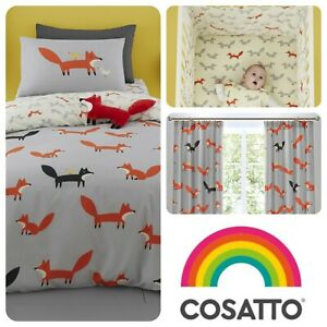 Cosatto-MISTER-FOX-Baby-Toddler-Bedroom-Set-Duvet-Cover-Set-Grow-Bag-amp-More