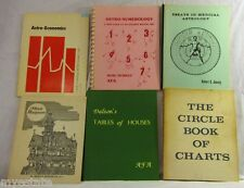 Vintage Lot of 6 ASTROLOGY THEMED BOOKS Charts Astro-Numerology & More