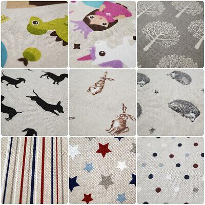 Hedgehogs 140cm Half Panama Cotton Poly Fabric Material Pop Art Vintage Linen