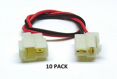 10 PACK - 2 PIN LARGE LM - Multi-Pin Connector - Color-Coded 18 AWG Wire Loop