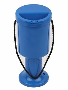 50-New-Hand-Held-Light-Blue-Plastic-Collection-Boxes-Donation-Charity-Boxes