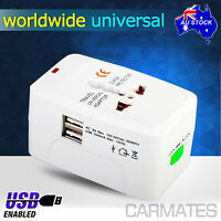 USB All in One AU UK USA EU Universal World Travel Power Charger AC Adaptor Plug