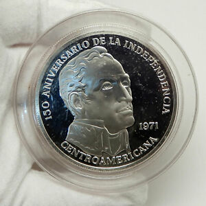 1971-PANAMA-Huge-6-2cm-Proof-Silver-3-8oz-20-Balboas-Coin-w-SIMON-BOLIVAR-i76332