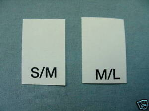 LOT-OF-100-PRINTED-LABELS-SIZE-TAGS-S-M-M-L-L-XL