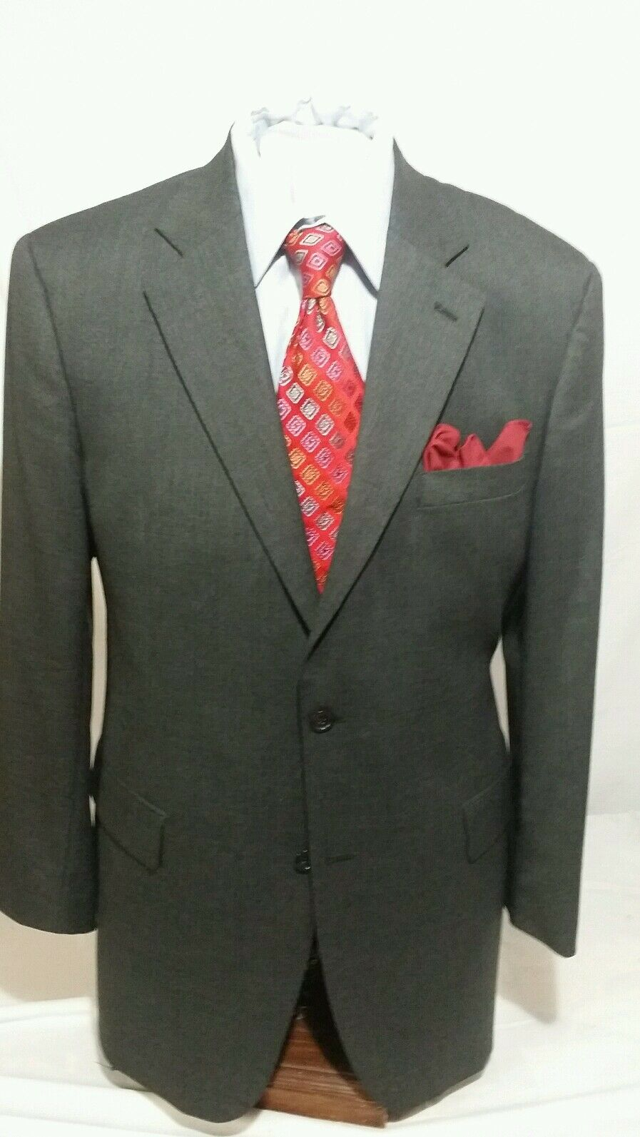 Herren JOSEPH & FEISS charcoal grau 2 button single vent suit sz 44L