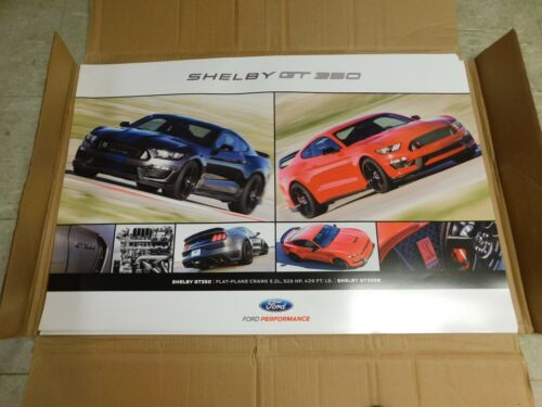 "2015 2016 2017 FORD MUSTANG SHELBY GT350 DEALER PROMO POSTER 36 x 24/"" NEW"