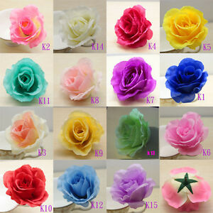 50pcs big roses simulation silk flowers heads floral for Fake flowers for crafts