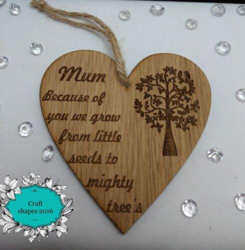 Mum Mummy Plaque Mothers Day Heart Grandma Nana Nanny Family Tree Granny