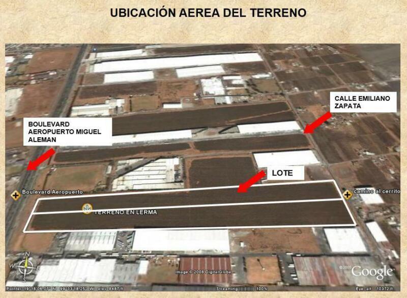 Terreno en Venta en Boulevard Miguel Alemán , Parque Industrial Cerrillo Lerma