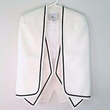 FRONTROWSHOP.COM White Wool Blend 1-Pc Cape and Vest SZ XS Coat Jacket Career