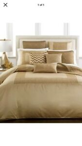 Hotel-Collection-Mosaic-Grid-Gold-Bronze-Quilted-Standard-SHAM-One-Only